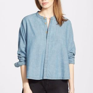 Madewell   Chambray Dolman Button Front Shirt SZ S